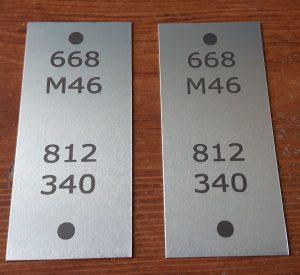 Marquage sur Aluminium